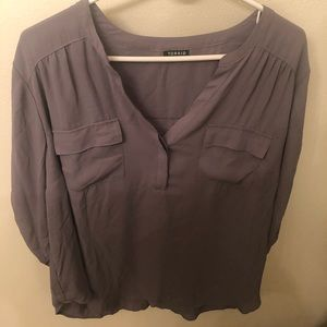 Gray 2X Blouse